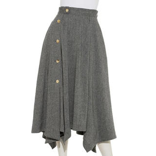 フレイアイディー(FRAY I.D)のフレイアイディー  サイドボタンフレアースカート(ロングスカート)