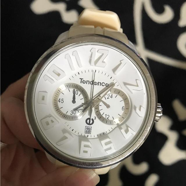 Tendence(テンデンス)のテンデンス 時計 白 メンズの時計(腕時計(アナログ))の商品写真
