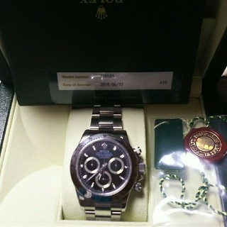 ロレックス(ROLEX)のmorio様専用116520デイトナ黒付属品①(腕時計(デジタル))