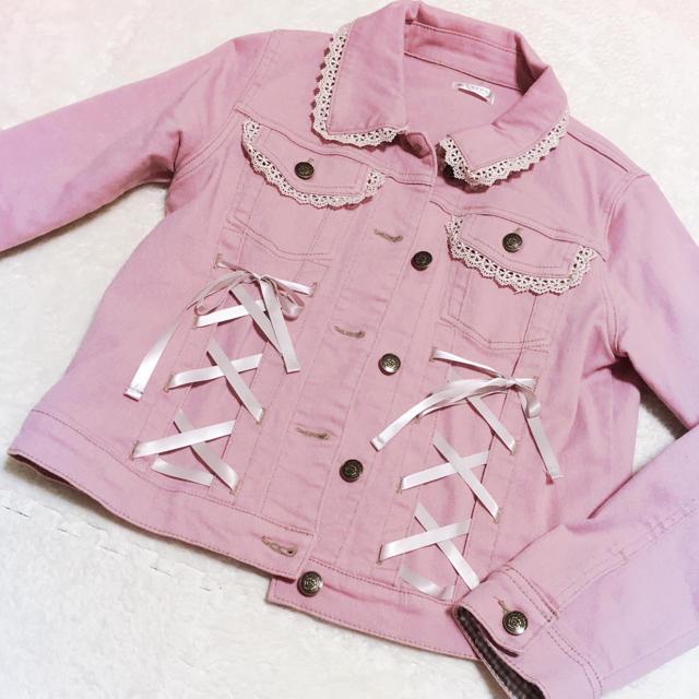 axes femme(アクシーズファム)のaxes♡ピンクGジャン レディースのジャケット/アウター(Gジャン/デニムジャケット)の商品写真