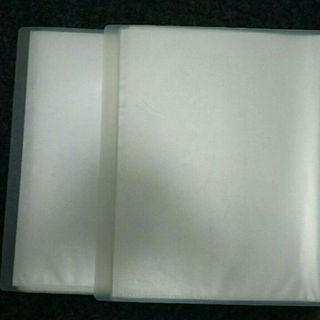 ムジルシリョウヒン(MUJI (無印良品))の無印A4ワイド40枚クリアファイル2個セット(その他)