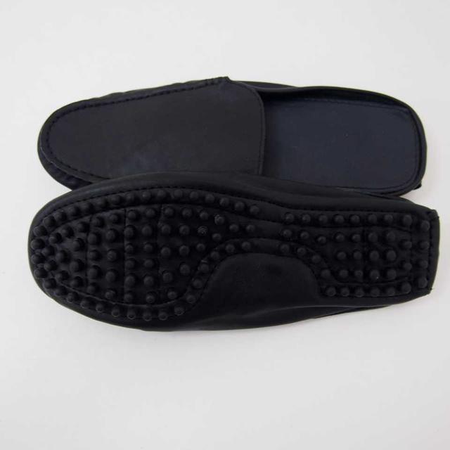 【新品】モカシン ローファースリッパ ブラック M (12) メンズの靴/シューズ(ドレス/ビジネス)の商品写真