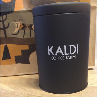 カルディ(KALDI)の新品♡カルディ キャニスター ブラック(容器)