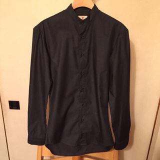 ギローバー(GUY ROVER)の【定価2.5万・超美品】GUY ROVER スタンドカラーシャツ ダークグレー(シャツ)