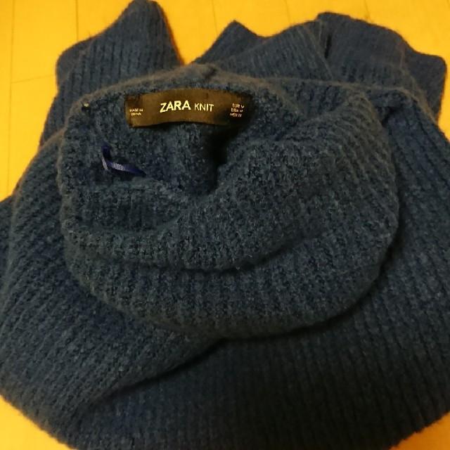 ZARA(ザラ)の今期完売ZARAブルーオーバーsizeニットM レディースのトップス(ニット/セーター)の商品写真