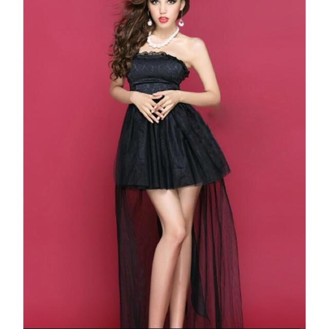 残りわずか!!超絶大人気♥フィッシュテールキャバドレス ブラック レディースのフォーマル/ドレス(ミニドレス)の商品写真
