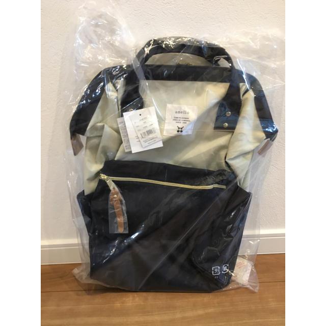 anello(アネロ)のanello レギュラーサイズリュック ホワイト/ネイビー レディースのバッグ(リュック/バックパック)の商品写真