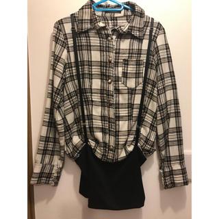 ディーバス(DIVAS)のチェックシャツ ワンピ ディーバス 新品(シャツ/ブラウス(長袖/七分))