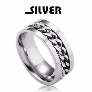 【軽くて強い】【30号】喜平チェーンチタンリング シルバー 指輪 メンズ シンプ(リング(指輪))