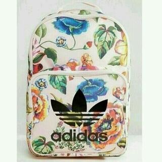 アディダス(adidas)の新品 ピンク 花柄 adidas Originals アディダス ロゴ リュック(リュック/バックパック)
