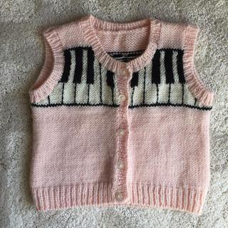 ファミリア(familiar)のビアンカ様専用ピアノ セーター カーディガン サイズ90(ニット)