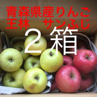 青森県産りんご ミックス食べ比べ 王林 サンふじ 2箱(フルーツ)