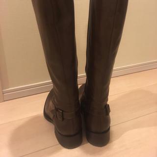 バーニーズニューヨーク(BARNEYS NEW YORK)の新品未使用 イタリア製 ダークブラウン 革 ロングブーツ ヒットマン(ブーツ)