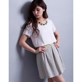 マーキュリーデュオ(MERCURYDUO)の新品♡Million Carats♡ストライプボリュームタックスカート(ミニスカート)