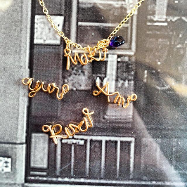 オーダー ネームネックレス 誕生石 レディースのアクセサリー(ネックレス)の商品写真