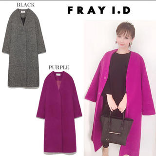 フレイアイディー(FRAY I.D)のFRAY ID♡今期新作チェスターコート♡パープル(チェスターコート)
