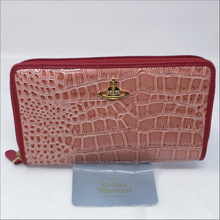 ヴィヴィアンウエストウッド(Vivienne Westwood)の未使用☺︎Vivienne Westwood 長財布 ピンク クロコダイル 赤(財布)