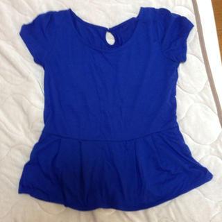 ジーユー(GU)のペプラムトップス(Tシャツ(半袖/袖なし))