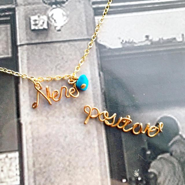 オーダー ネームネックレス 誕生石なし レディースのアクセサリー(ネックレス)の商品写真