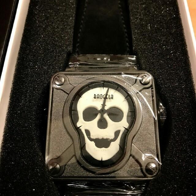 baogela/スカルウォッチ 腕時計ブラック メンズの時計(腕時計(アナログ))の商品写真