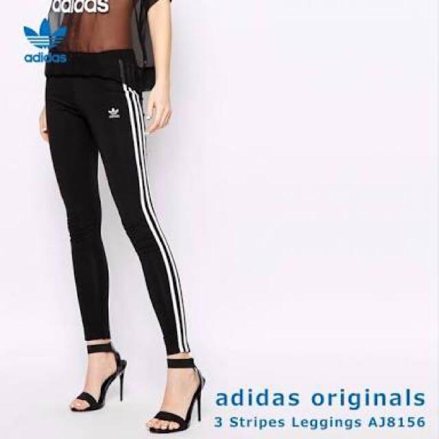 adidas(アディダス)の《新品未使用》adidas 3ストライプスレギンス ブラック  レディースのレッグウェア(レギンス/スパッツ)の商品写真