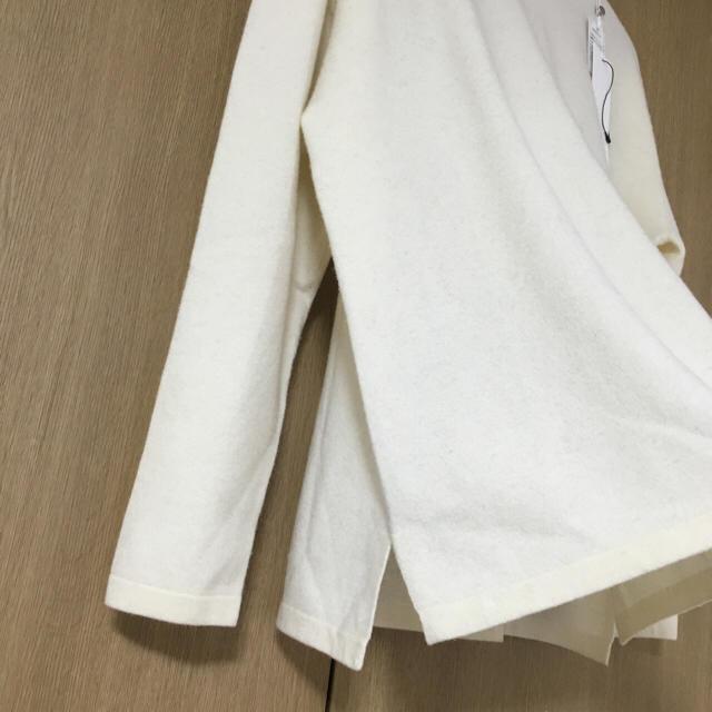 COMOLI(コモリ)のcomoli コモリ15FW ボートネックニット ホワイト メンズのトップス(ニット/セーター)の商品写真