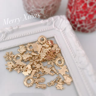 クリスマス レジン パーツセット 55個+α(各種パーツ)