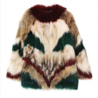 ムルーア(MURUA)のMURUA マルチカラーMIXカラーファーコート(毛皮/ファーコート)