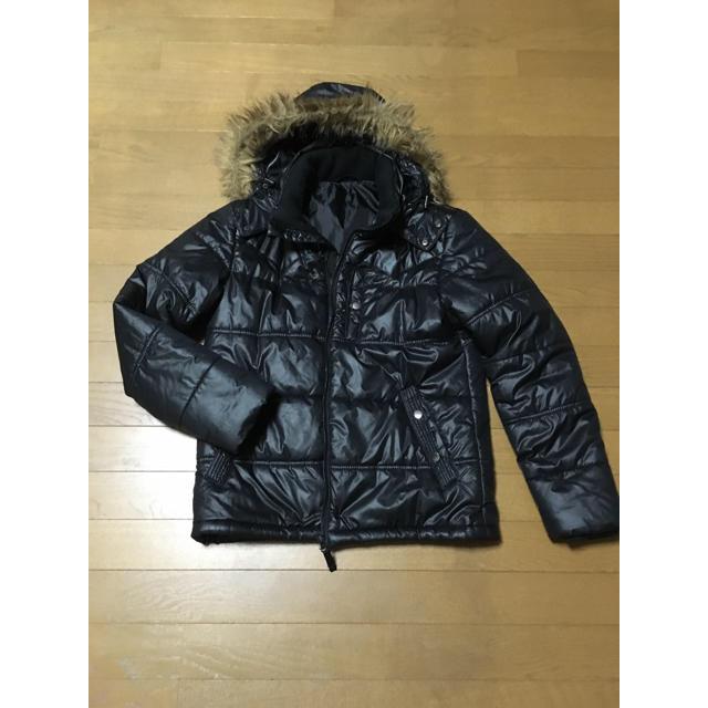 GU(ジーユー)のメンズ ダウンジャケット  黒 ブラック メンズのジャケット/アウター(ダウンジャケット)の商品写真