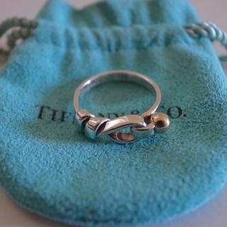 ティファニー(Tiffany & Co.)の美品・贈り物などに。ティファニー フラットワイヤー フック&アイリング 8号(リング(指輪))