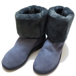 アルコペディコ(ARCOPEDICO)の【新品】 アルコペディコ L'ライン MILAN2 ボアブーツ グレー 38(ブーツ)