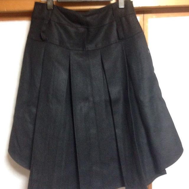 プリーツスカート黒 レディースのスカート(ひざ丈スカート)の商品写真