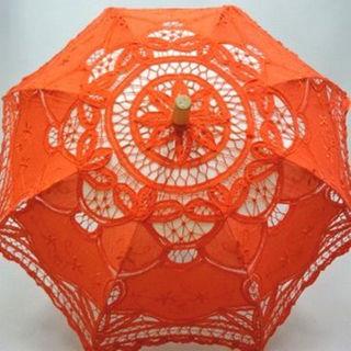 新品!手作り|日傘|ハンドメイド|バテンレース|刺繍|七五三|およばれ(傘)