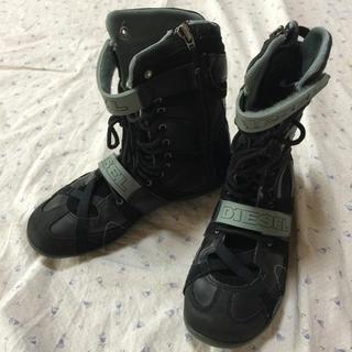 ディーゼル(DIESEL)の値下げ 美品 DIESEL 22㎝ ハイカットスニーカー ブーツ (ブーツ)