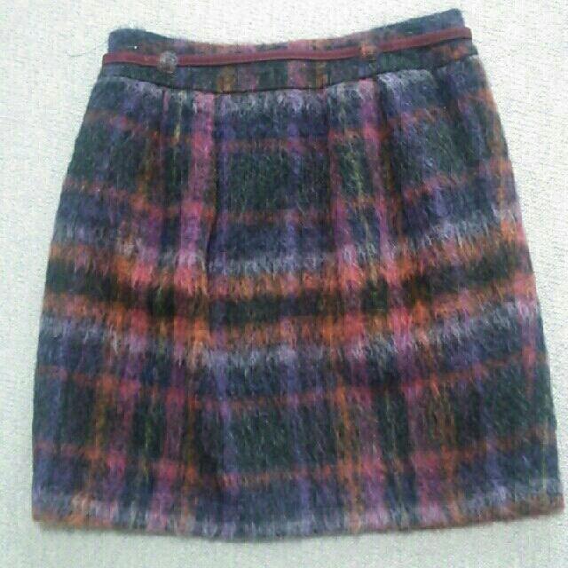 Stola.(ストラ)の1月31日まで stola.モヘア調 膝上スカート レディースのスカート(ひざ丈スカート)の商品写真