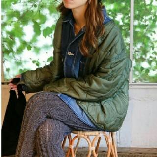 トゥデイフル(TODAYFUL)のtodayful♡ ライナージャケット カーキ 38(ミリタリージャケット)