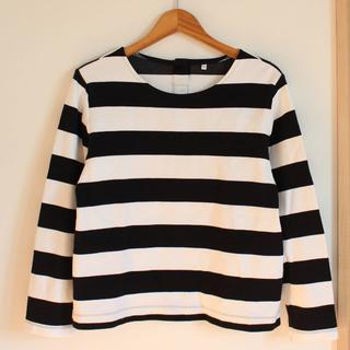 ムジルシリョウヒン(MUJI (無印良品))のMUJI ボーダーカットソー 無印良品 Lサイズ(Tシャツ(長袖/七分))