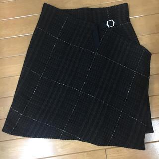 ニジュウサンク(23区)の[送料無料]チェック柄巻きスカート(ひざ丈スカート)