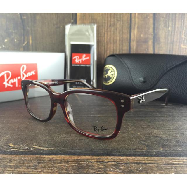 Ray-Ban(レイバン)のレイバンRayBan RB5307-2609〈赤鼈甲フレーム×伊達メガネ〉 メンズのファッション小物(サングラス/メガネ)の商品写真