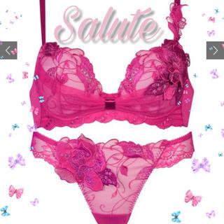 ワコール(Wacoal)のSalute♥series70リボンブラ&Tセット୨୧人気完売♥B75(ブラ&ショーツセット)