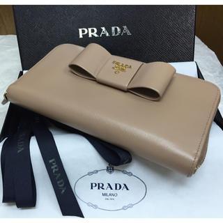 プラダ(PRADA)の美品✨PRADA長財布✨サフィアーノ⭐︎リボン⭐︎ラージタイプ⭐︎ラウンドジップ(財布)