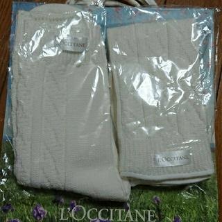ロクシタン(L'OCCITANE)のうこ0926様ロクシタン スノーシア ロゴ入り ニットグローブ ソックス 新品 (その他)