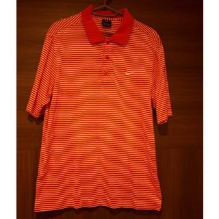 ナイキ(NIKE)のNIKE ゴルフウェア 半袖ポロシャツ M 赤ボーダー(ウエア)