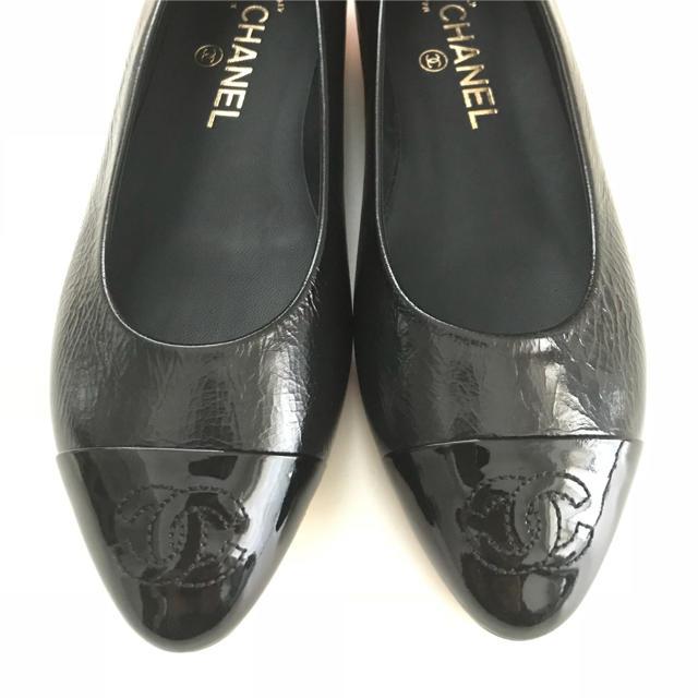 CHANEL(シャネル)の値下げ☆シャネル フラットシューズ 黒 新品 36サイズ レディースの靴/シューズ(ハイヒール/パンプス)の商品写真