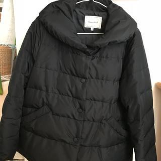 クチュールブローチ(Couture Brooch)のクチュールブローチ 薄手ダウンコート ブラック黒 未使用(ダウンコート)