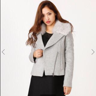 リエンダ(rienda)のrienda今季 WクロスFaux Fur Wool MIXライダースJK(ライダースジャケット)