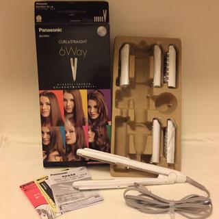 パナソニック(Panasonic)のヘアアイロン マルチ 6Way 白  パナソニック EH-HW51(ヘアアイロン)