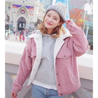 大人気 コーデュロイ ボアジャケット 韓国服 オルチャン WEGO カスタネ(Gジャン/デニムジャケット)