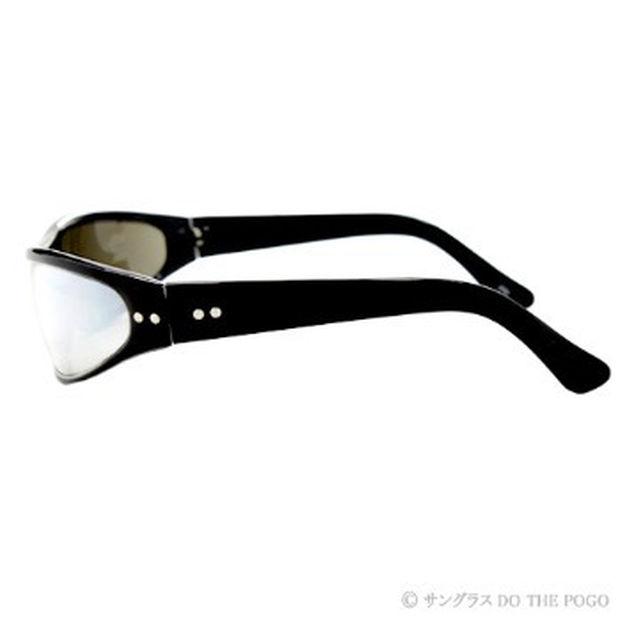 新品送料込 キャッツアイサングラス 黒ミラー|ミラーレンズ ロック パンク UV メンズのファッション小物(サングラス/メガネ)の商品写真