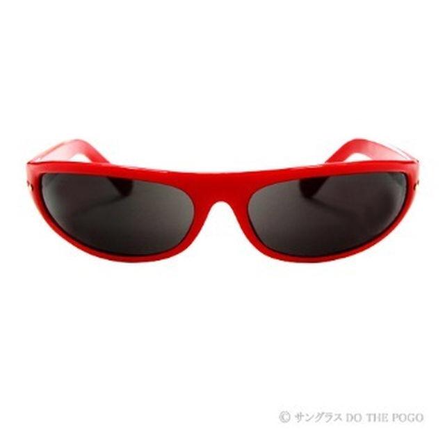 新品送料込 キャッツアイサングラス 赤|バイカー レッド UV 男女共用 メンズのファッション小物(サングラス/メガネ)の商品写真